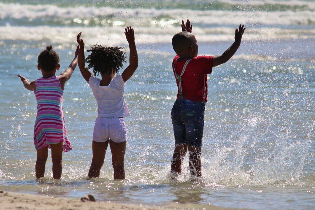 children, south africa, water