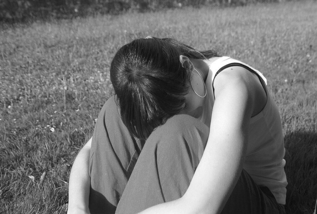 alone, girl, woman